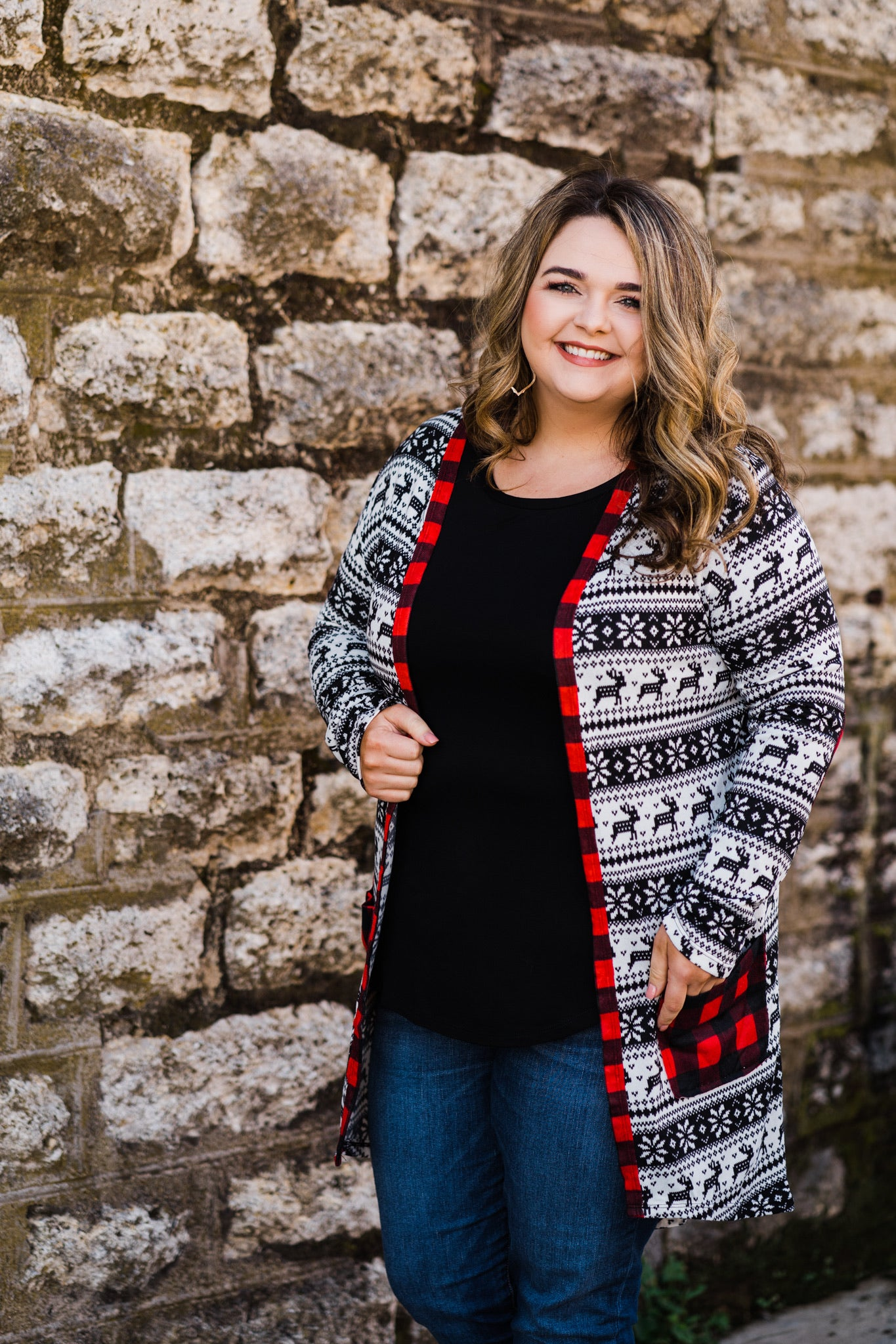 Everyday Cardigan | Reindeer Fair Isle