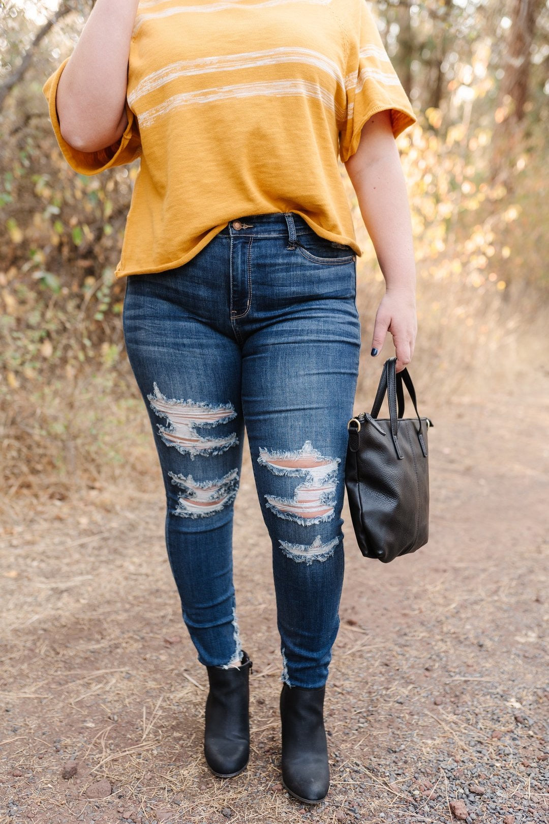 Rock N Roll All Night Judy Blue Skinny Jeans,  - Lola Cerina Boutique