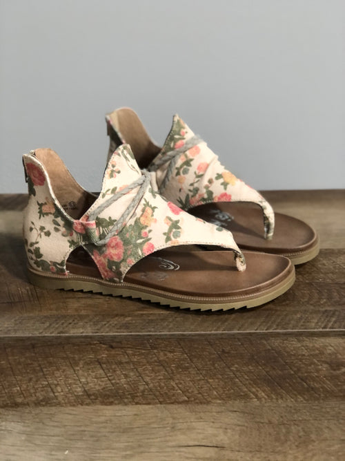 Very G Gypsy Jazz Sparta Sandal | Cream Floral - Lola Cerina Boutique
