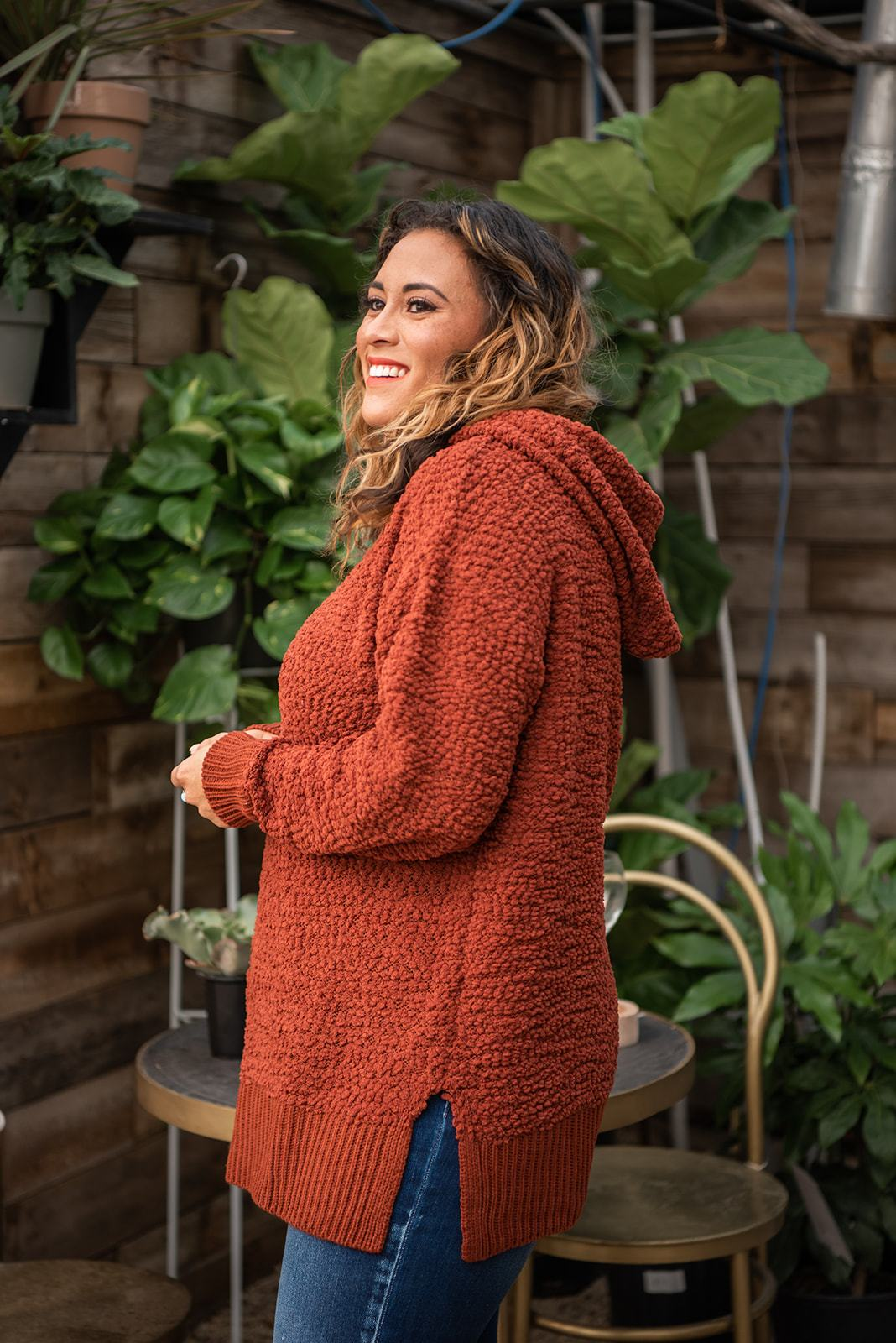 Too Cozy To Care Hooded Sweater - Lola Cerina Boutique