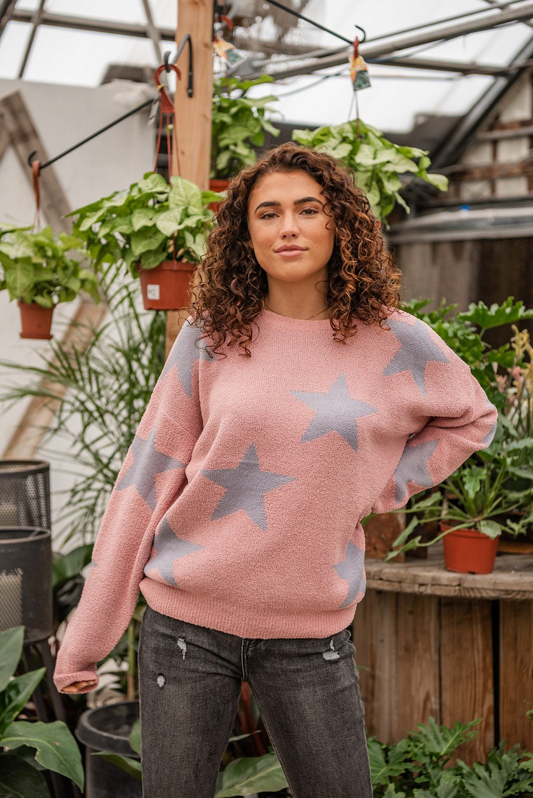 Reach For The Stars Knit Sweater - Lola Cerina Boutique