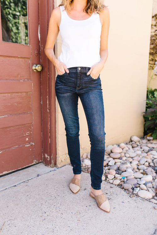 Sleek And Sophisticated Dark Wash Jeans by Judy Blue, Womens - Lola Cerina Boutique