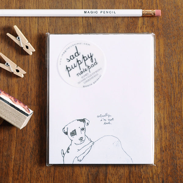 Sad Puppy Notepad | Cute and Funny Paper Product | Sustainably