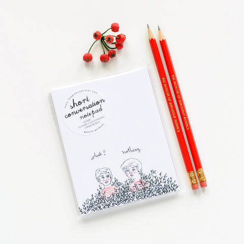 Short Conversation Notepad | Funny, Sweet Little Drawing