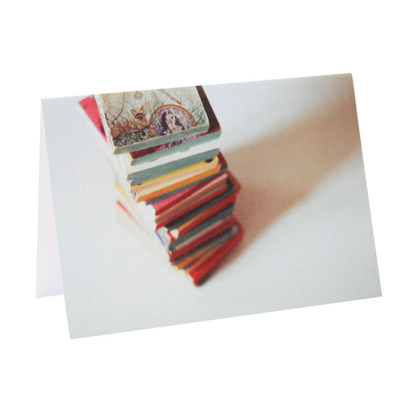 Agatha Christie Book Stack Greeting Card | Analog Photography