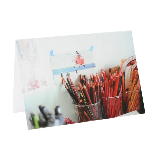 Greeting Card Film Photography | Pencils by Color | Blank Inside