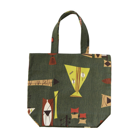 Tote Bag | Retro Green | Quality Handmade, Unique and Sturdy
