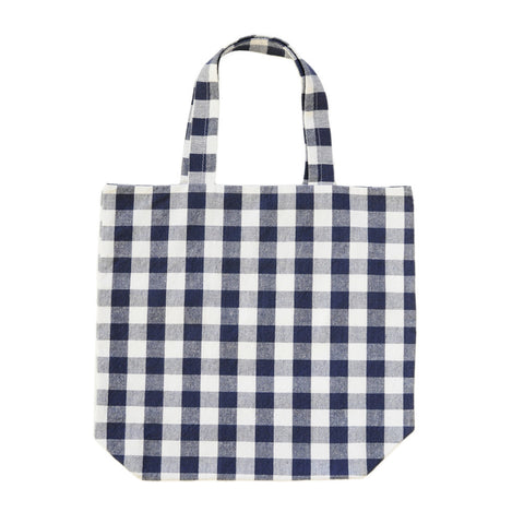 Tote Bag | Blue + White Gingham | Handmade, Unique and Upcycled