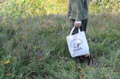 Adventuring | Imaginary Animal Logo Screen-Printed on 100% Recycled Cotton Tote Bags