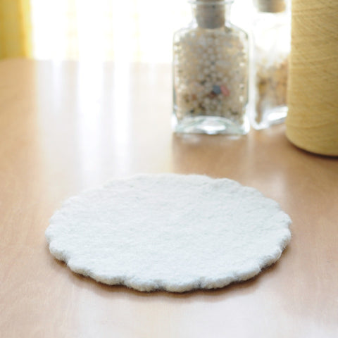 Wooly Trivet | Natural/White