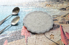 Wooly Trivet | Two-Tone Grey