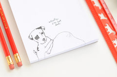Sad Puppy Notepad | Cute, Funny Dog Drawing