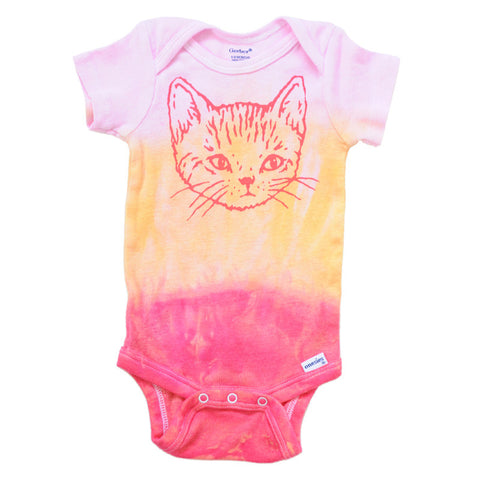 Kitten Onesie | Hand Dip-Dyed | Super-Cute for Stylish Babies
