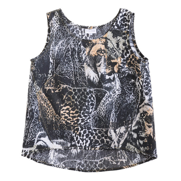 Handmade One-of-a-Kind Womens Clothes | Midnight Safari Tank | Upcycled