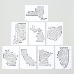 State Maze Postcards © David Birkey