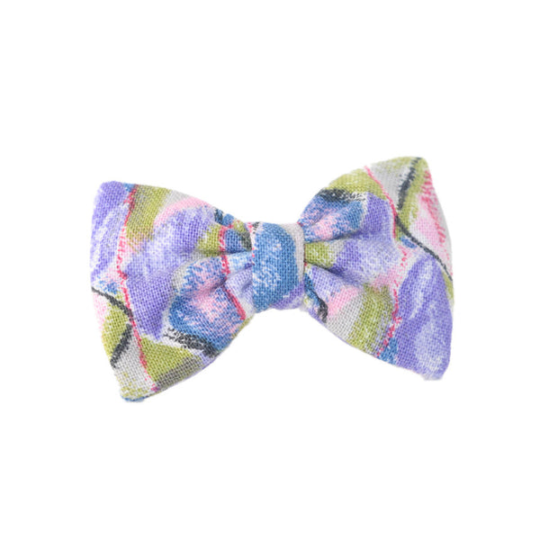 Mini Bow | Vintage Purple Abstract | Barrette
