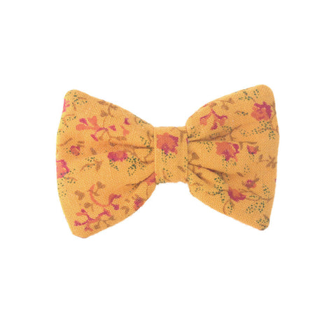 Mini Bow | Vintage Pumpkin Floral | Barrette