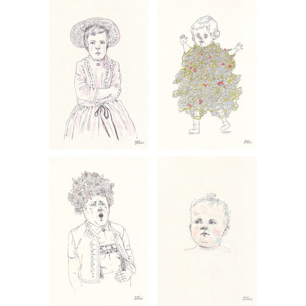 Postcard Set | 4 Drawings by Marie Gardeski