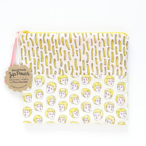 Blond Boys Love French Fries Original Fabric Pouch