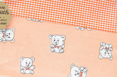 Bow Tie Teddy Bear + Orange Gingham Pouch | www.imaginaryanimal.com