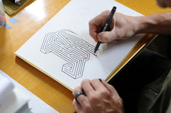 Jack Name Maze - Printable PDF - Hand drawing in progress