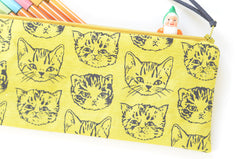 Cute Cat Pencil Pouch | Original Fabric by Marie Gardeski