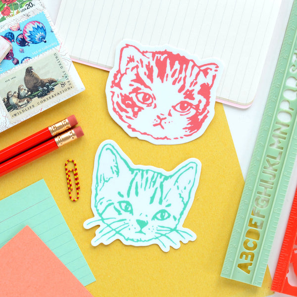 Cute Kitty Cat Vinyl Die Cut Stickers