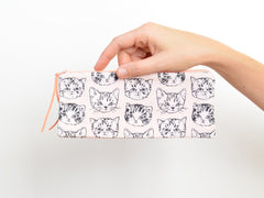 Cute Cats Peach Pencil Pouch