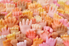 Doll Hand Shaped Soap by Marie Gardeski Handmade with Vegetable Glycerin - Handsoap Set Assorted Shapes and Colors - Sea of Hands