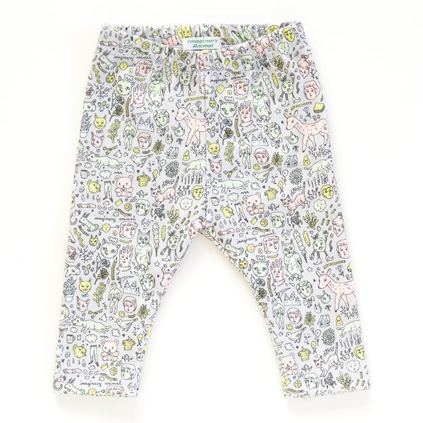 Organic Cotton Doodletown Baby Leggings  |  Imaginary Animal