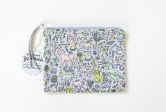 Small Doodletown Zip Pouch