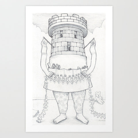 Fine Art Print | Exquisite Corpse #18 by David Birkey and Marie Gardeski
