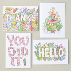 You Did It | Congratulations Greeting Card | Humorous Illustration by Marie Gardeski
