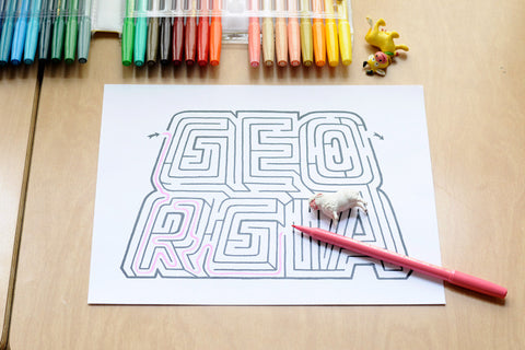 Personalized Georgia Name Maze | Instant Download PDF
