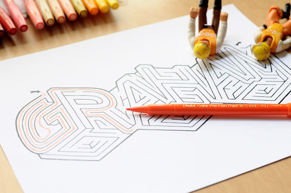 Personalized GRAHAM Name Maze - Instant Download Printable PDF