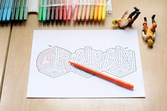GRAHAM Name Maze - Printable PDF
