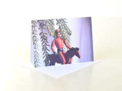 Green Arrow Superhero Film Photo Greeting Card