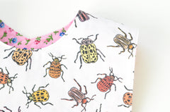 Pretty Beetles Original Fabric Bib