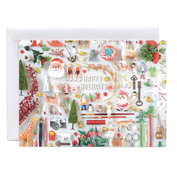 Tiny Things Holiday Collection Greeting Card | Christmas Nostalgia Note Card or Postcard