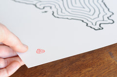 Illinois State Maze Offset Print | Hand Drawn Design by David Birkey