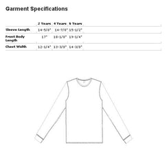American Apparel Long Sleeve Kids Tee Size Chart
