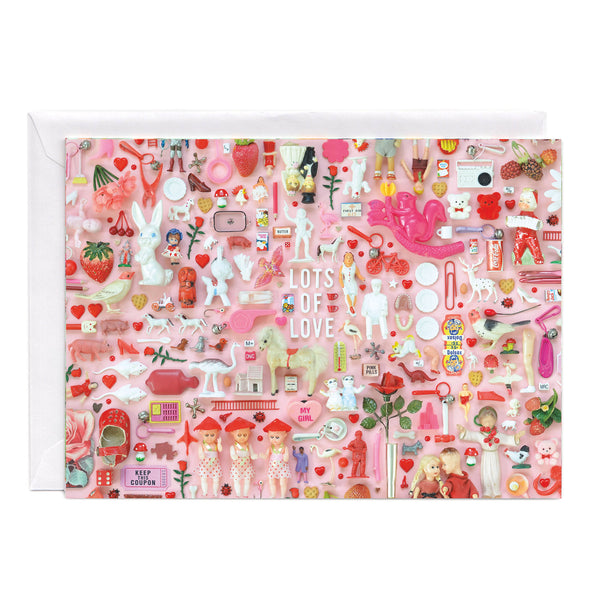 Lots of Love Tiny Things Greeting Card with Envelope
