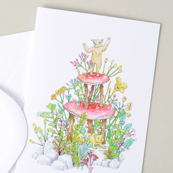 Birthday Greeting Card | Nature Cake Illustration by Marie Gardeski