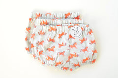 Red Pony Handmade Baby Bloomers | Original Fabric | imaginaryanimal.com