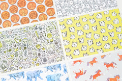 Surface Pattern Postcard Set | 6 Textile Designs by Marie Gardeski