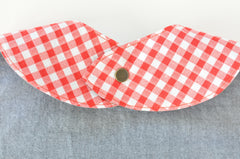 Vintage Fabric Baby Bib | Nautical Ships / Gingham