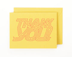 Thank You Maze Greeting Card and Matching Envelope | Curry