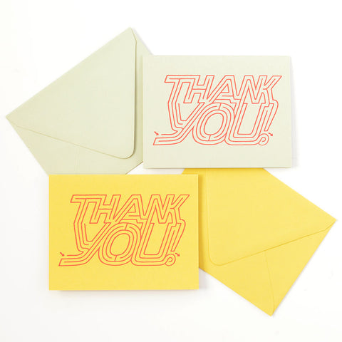 Thank You Maze Greeting Card and Matching Envelope