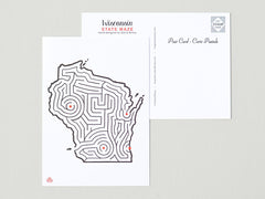 Wisconsin Maze Postcard © David Birkey | imaginaryanimal.com