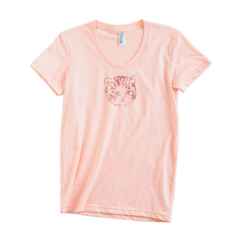 Womens Apricot Kitty Tee